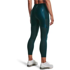 Under Armour Isochill Run 7/8 Tights Women, Azul petróleo